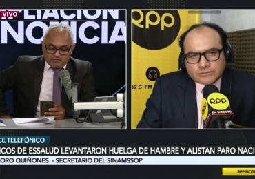 Teodoro Quiñones ratificó huelga nacional  en EsSalud exigiendo salida de Fiorella Molinelli