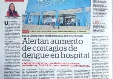Alertan aumento de contagios de dengue en hospital