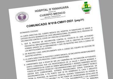 Comunicado 018-CMHY-2021