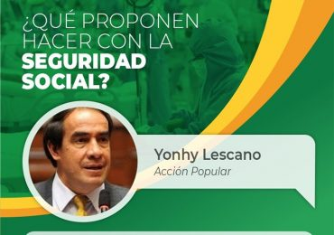 Diálogo con los candidatos: Yonhy Lescano, Lunes 1 - hora: 7 pm
