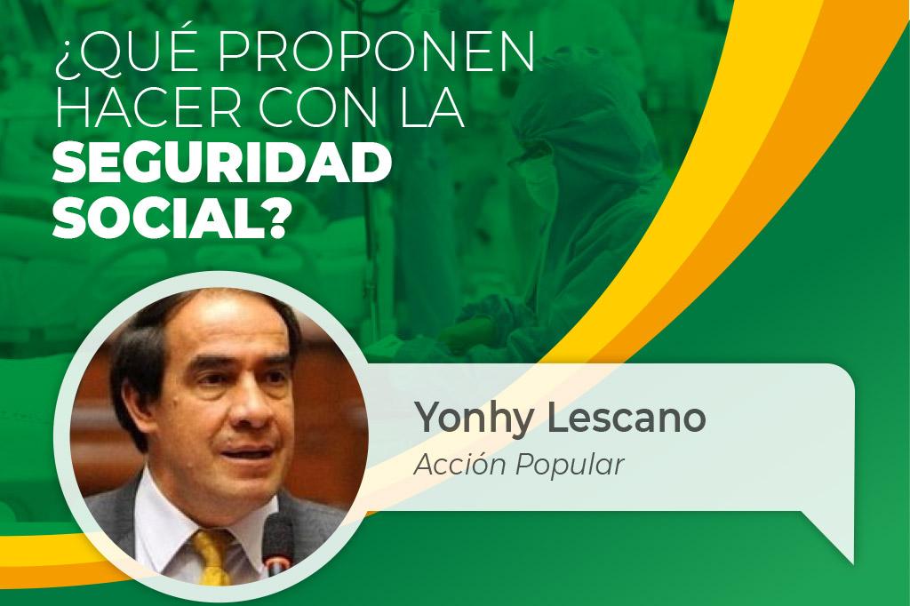 """Con la presencia del candidato presidencial Yonhy Lescano mañana se inicia a las 7 pm evento del SINAMSSOP """"DIÁLOGO CON LOS CANDIDATOS"""""""