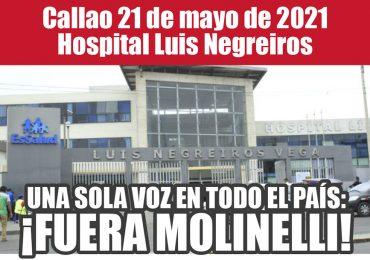 Plantones Nacionales de Protesta en EsSalud: Callao 21 de mayo de 2021 Hospital Luis Negreiros
