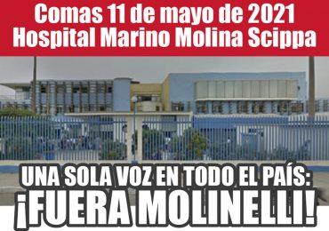 Plantones Nacionales de Protesta en EsSalud: Comas 11 de mayo de 2021 Hospital Marino Molina Scippa