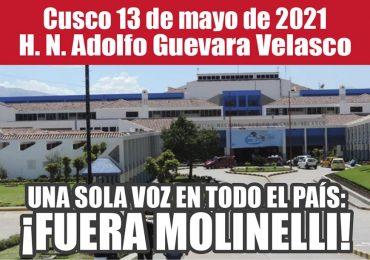 Plantones Nacionales de Protesta en EsSalud: Cusco 13 de mayo de 2021 H. N. Adolfo Guevara Velasco