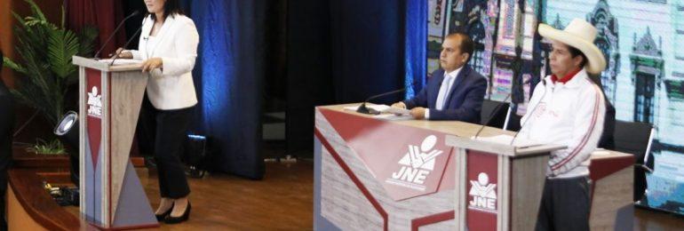 Castillo y Keiko se enfrentaron en debate presidencial del JNE RESUMEN