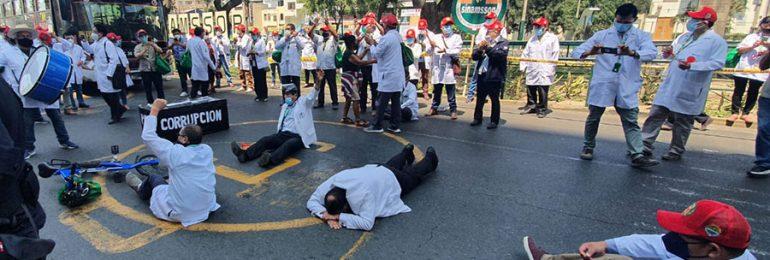 Mañana se inician plantones de protesta en Hospital Ramón Castilla de EsSalud en Lima rumbo al Paro Nacional ¡Fuera Molinelli! del 27 de mayo