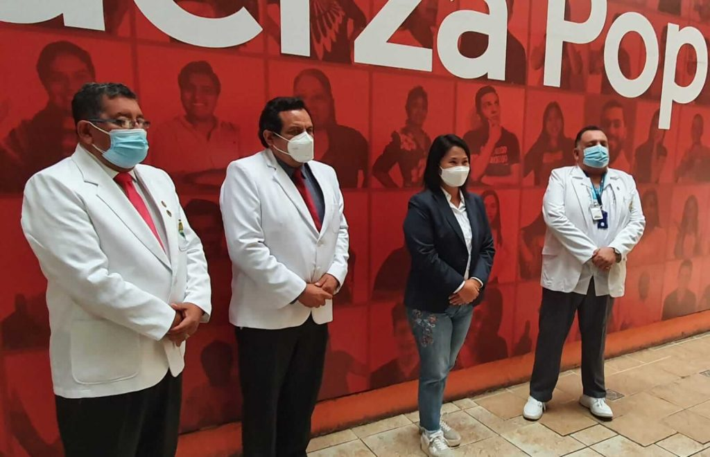 Candidata presidencial Keiko Fujimori aceptó reunirse con dirigentes de los cuerpos médicos del SINAMSSOP en fecha próxima
