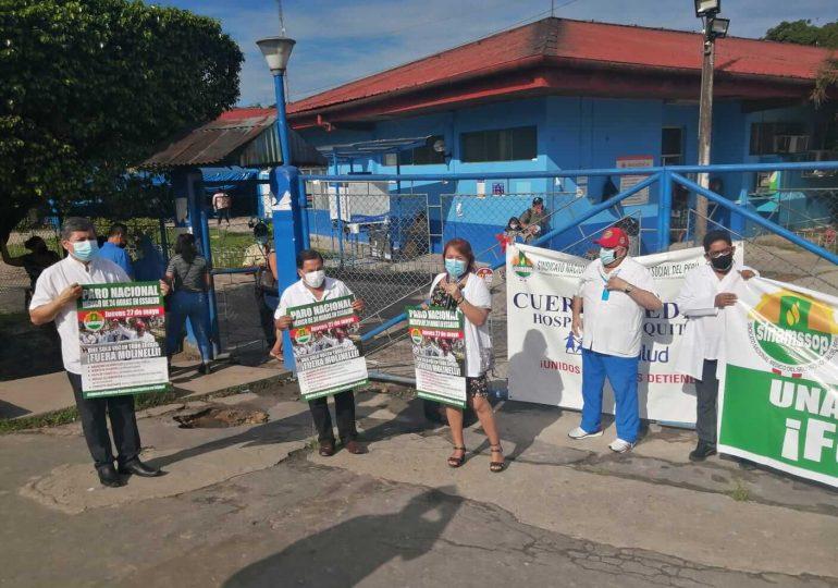 14° Plantón: médicos de Iquitos demandaron planta de oxígeno, construcción de nuevo hospital y contratación de especialistas