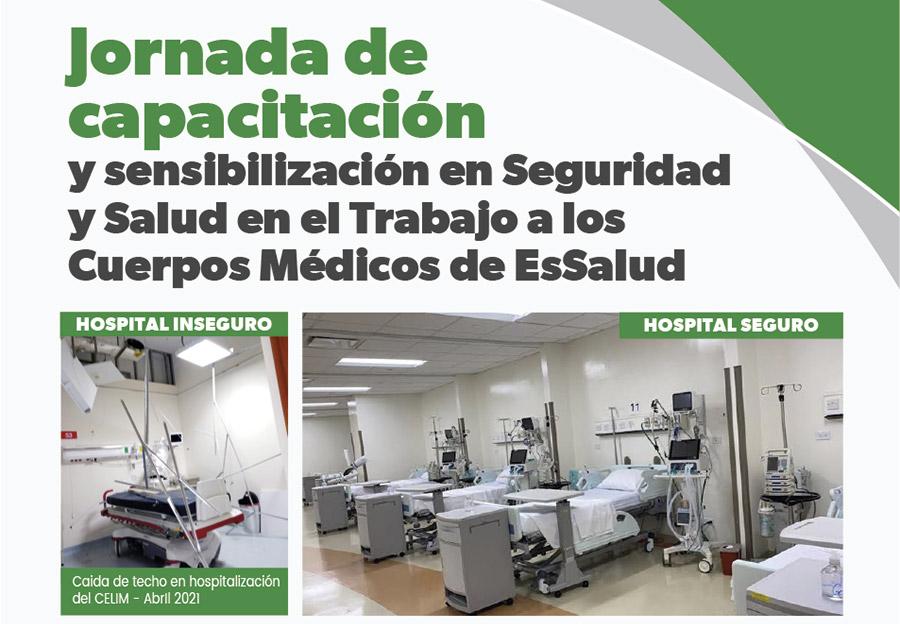 """A las 6 pm se inicia """"Jornada de Capacitación y Sensibilización en Seguridad y Salud en el Trabajo a los cuerpos médicos de EsSalud"""""""
