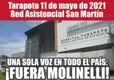 Plantones Nacionales de Protesta en EsSalud: Tarapoto 11 de mayo de 2021 Red Asistencial San Martín