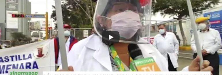 Con éxito se realizó último plantón de protesta del SINAMSSOP por abandono de hospitales