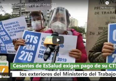 Cesantes de Régimen 276 de EsSalud exigen pago de CTS