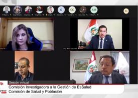 Funcionarios de la Contraloría confirmaron ante Comisión Investigadora vicios en procesos de adquisiciones en EsSalud durante la pandemia