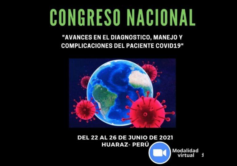 """Entre el 23 y 26 de junio se realizará I Congreso Nacional """"Avances en diagnóstico, manejo y complicaciones del paciente Covid-19"""""""