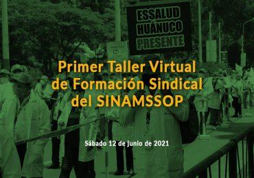 Primer Taller Virtual de Formación Sindical del SINAMSSOP