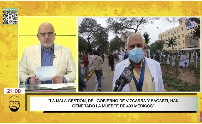Beto Ortiz: médicos expuestos a tercera ola no tienen por qué rogar por la vacuna Pfizer