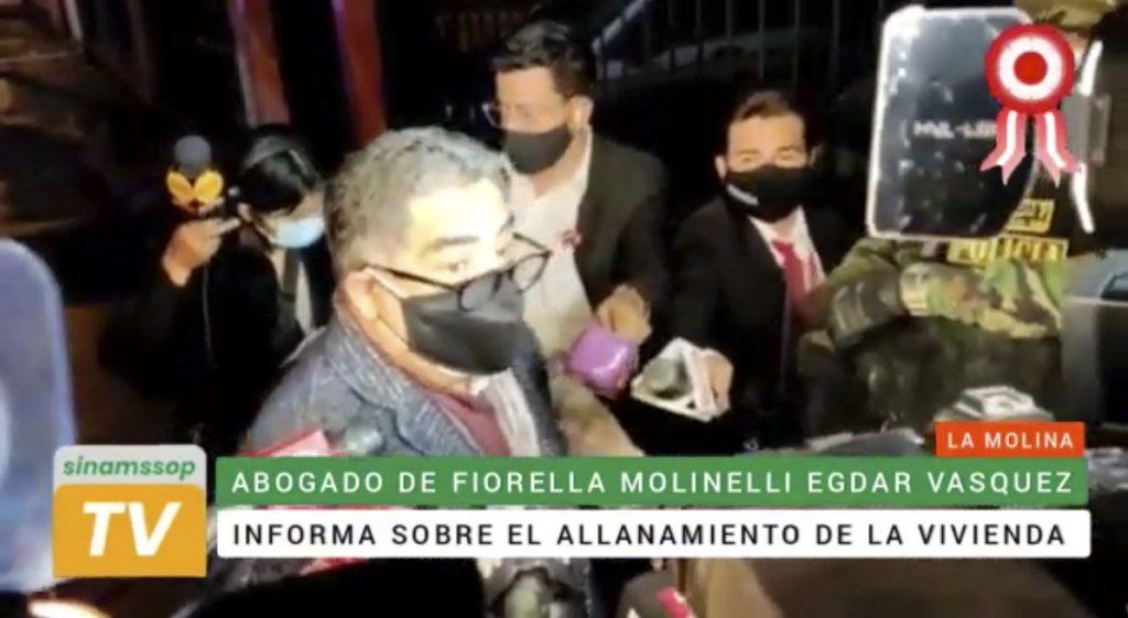 Allanan vivienda de Fiorella Molinelli y oficinas de la red de EsSalud