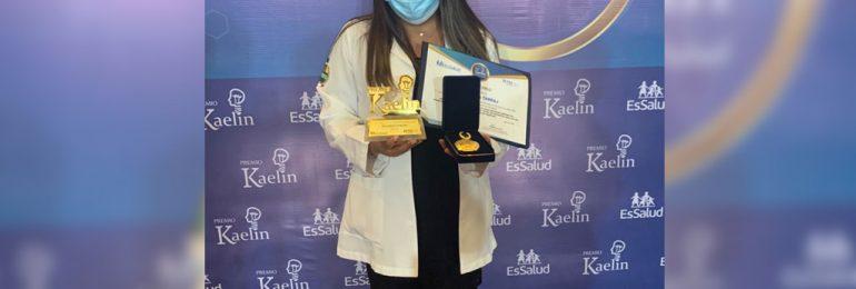 Reconocimiento y felicitación por haber obtenido el Premio Kaelin en Ciencias de la Salud
