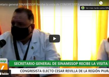 Lucha por la democracia en el COP: secretario general y miembros del CEN recibieron a congresista electo César Revilla de Fuerza Popular