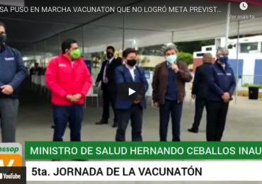 MINSA puso en marcha Vacunatón que no logró meta prevista