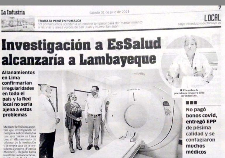 Investigación a EsSalud alcanzaría a Lambayeque