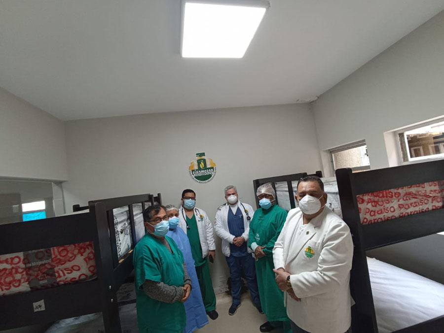 Secretario general Teodoro Quiñones hizo entrega de equipos a cuerpos médicos del Ramón Castilla y Octavio Mongrut