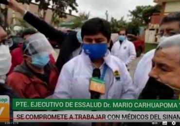 Presidente ejecutivo de EsSalud se comprometió a atender demandas del gremio médico