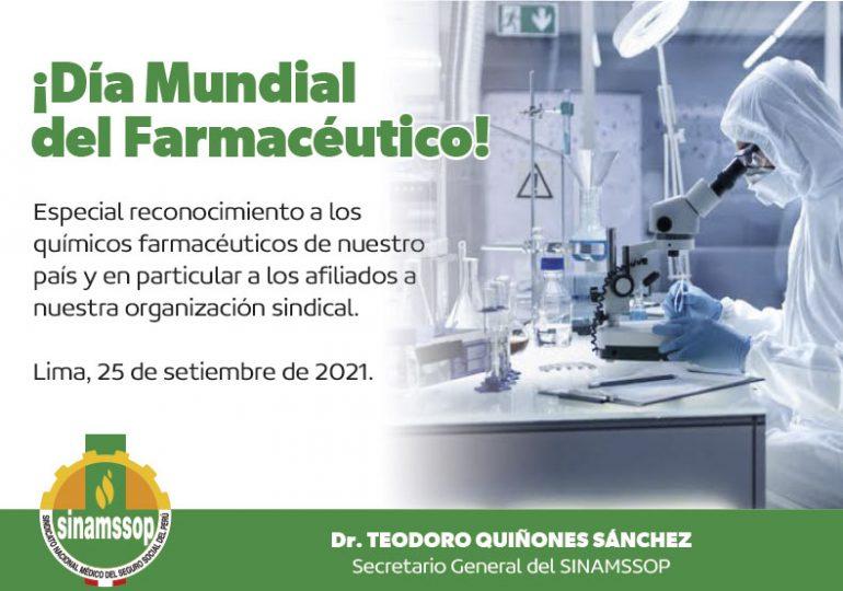 ¡Día Mundial del Farmacéutico!