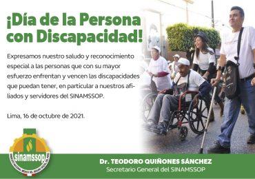 ¡Día de la Persona con Discapacidad!