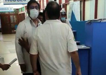 Jefe quirúrgico de Puerto Maldonado quiso golpear a secretario general del SINAMSSOP Teodoro Quiñones durante paro de protesta